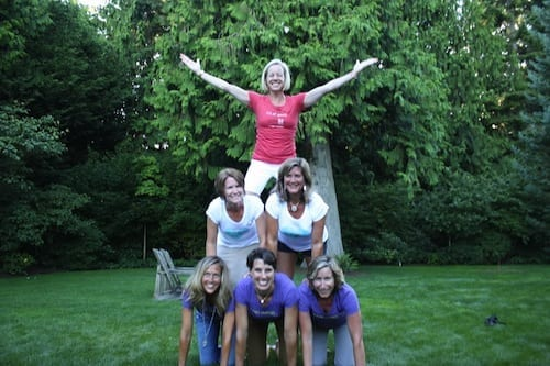 Not lost on us: these Minnesota girls love their pyramids.