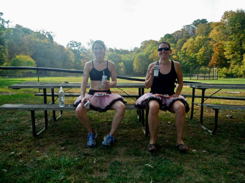 Or you could be drinking chocolate milk after a run with a new pal at a picnic bench. You'd fit in here.