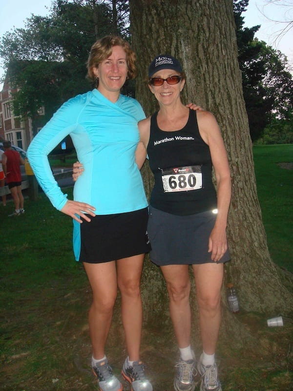 In the presence of a legend: Sarah with Kathrine Switzer in summer of 2012 at a local race in Connecticut.