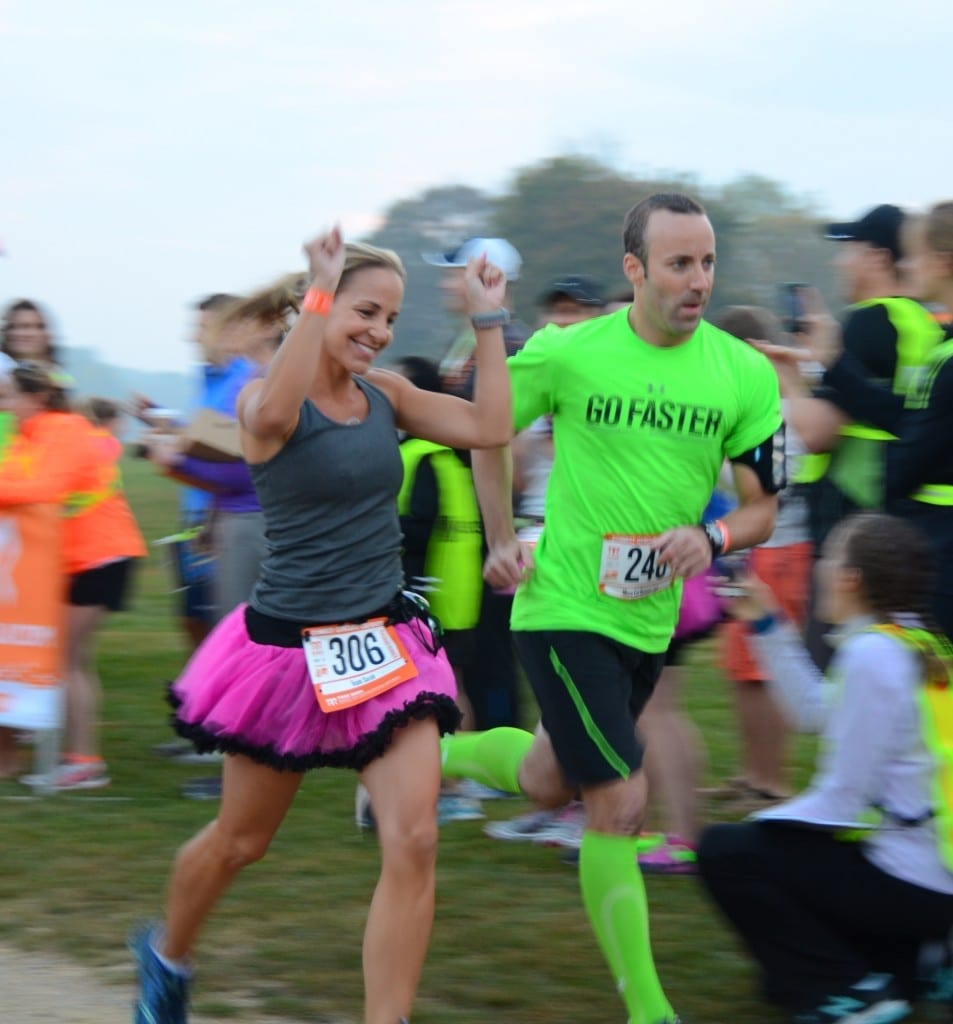 Insert yourself here, mother runner! (In the tutu, not the bright green socks.)