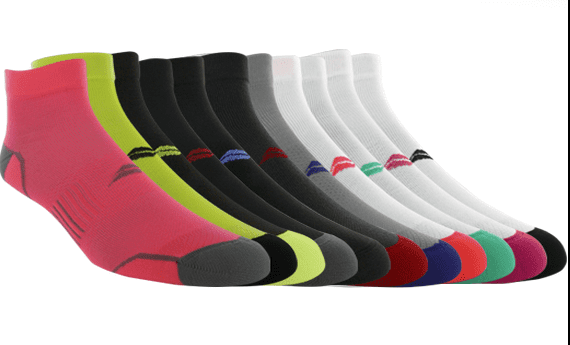 One winner will get seven of these eleven pairs Sof Sole Fit Series Socks.